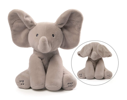 The image depicted is of the animated plushie Flappy the Elephant.
