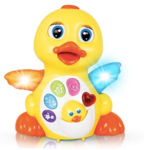 The image depicted is of the CifToys Musical Duck Toy which is bright yellow and has Led lit wings.