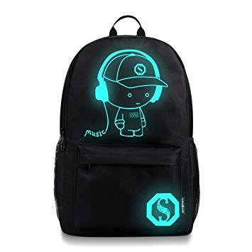 this is an image of a teenager Luminous school backpack