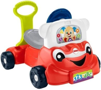 This is an image of baby smart car 3 in 1 in red color