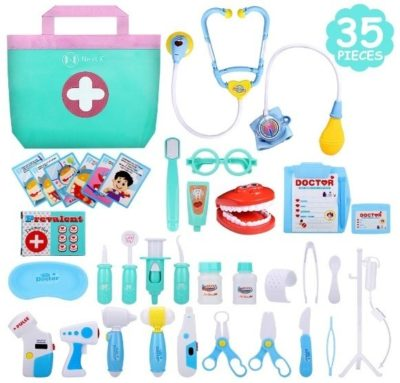 This is an image of baby doctor kit in that has 35 pieces