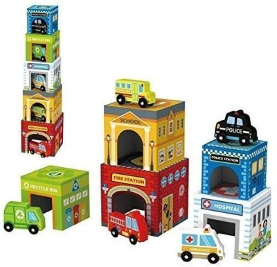 This is an image of baby 5 cars with garages toys in multi colors