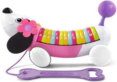 This is an image of baby alphapup in purple/pink colors