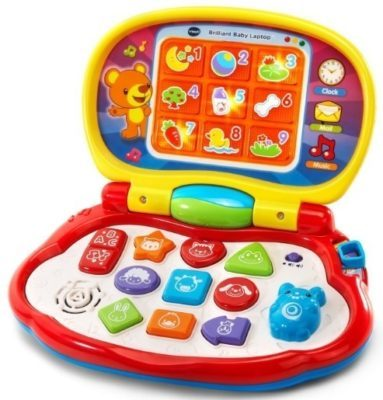This is an image of baby laptop in multi-colors by VTech