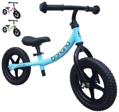 This is an image of baby bike balance for kids in blue and black colors