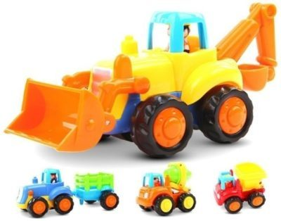 This is an image of baby construction vehicales toy pack of 4