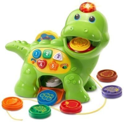 This is an image of baby green dino toy with chomp and count