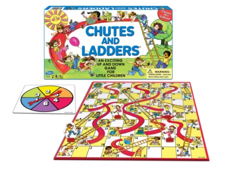This is an image of a Chutes and Ladders game for kids.