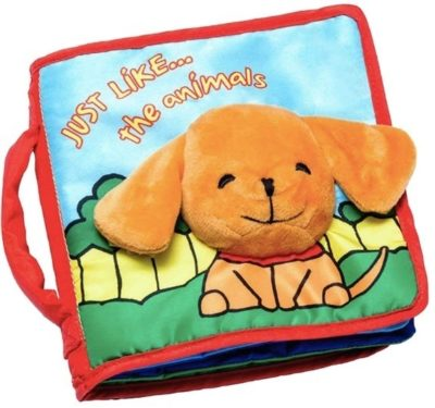 This is an image of baby cloth book for kids