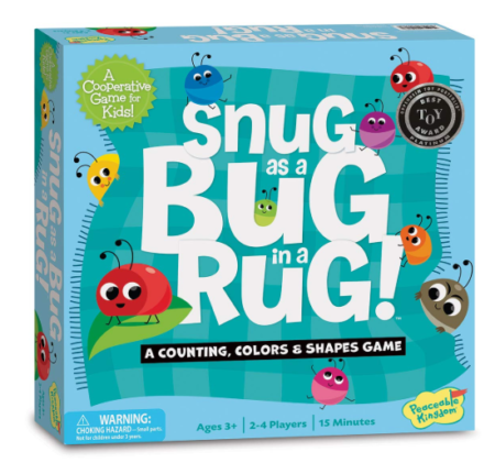 This is an image of a colorfuls bugs board games for kids.
