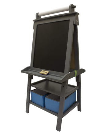 This is an image of a grey chalkboard for kids.