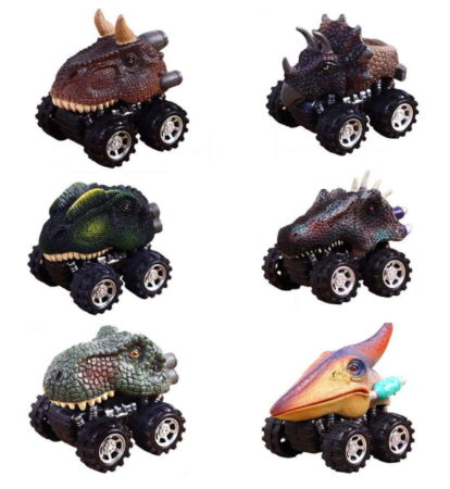 This is an image of a 6 pack dinosaur toys for kids.
