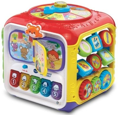 This is an image of baby activity cube discover