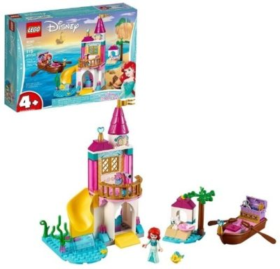 This is an image of girls LEGO disney ariel's seaside castle building kit