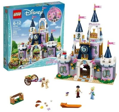 This is an image of kids disney princess dream castle lego building kit