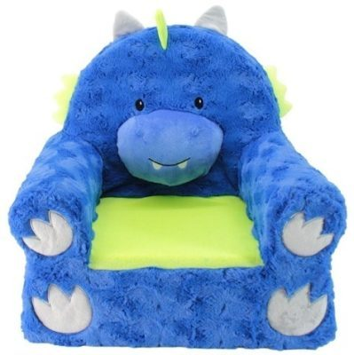 This is an image of kids dragon chair in blue color