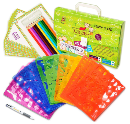 This is an image of an art and craft set for kids.
