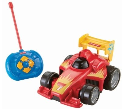 This is an image of Toddler supercar and easy remote control in red color