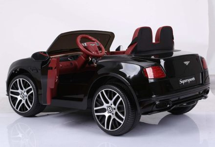 This is an image of kids elecric supersports car in black color