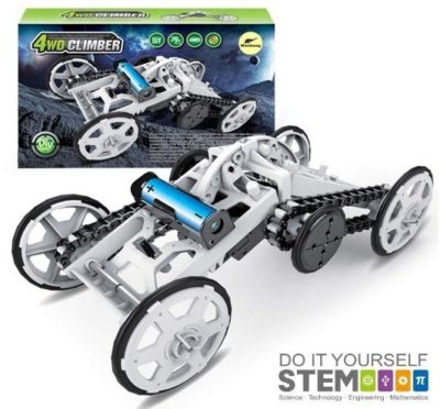 This is an image of kids building kit with electric mechanical assembly
