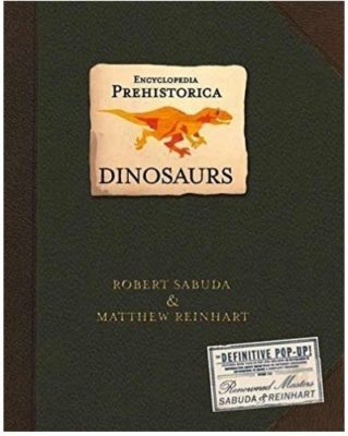 This an image of kids encyclopedia dinosaurs book for kids