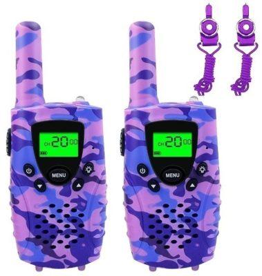 This is an image of kids walkie talkies in purple camoflage by FAYOGOO
