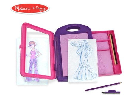 This is an image of a kid's fashion activity kit.
