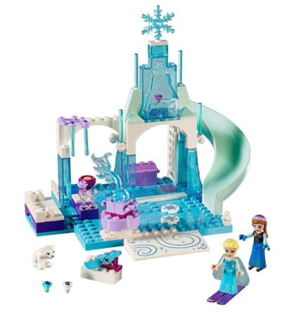 This is an image of a Disney Frozen LEGO toy building kit for girls.
