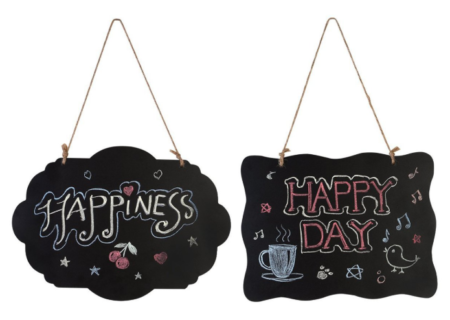 This is an image of a decorative chalkboard.