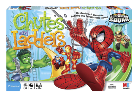 This is an image of an up and down classic game in super hero edition.