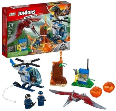 This is an image of kids jurassic world building kit by lego