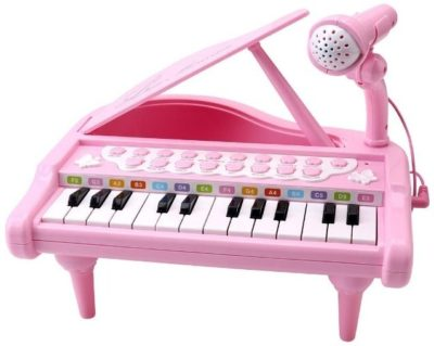 This is an image of baby keyboard piano in pink color