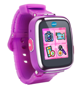 This is an image of a purple smartwatch designed for little girls.