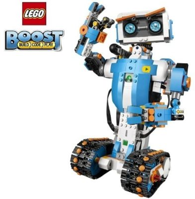 This is an image of kids LEGO Robot building kit in blue color