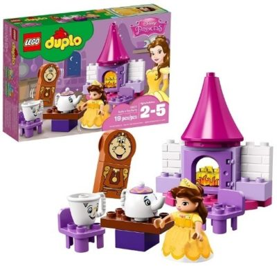 This is an image of baby girl lego duplo building kit tea party