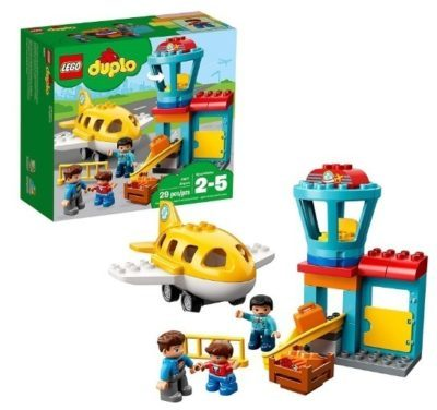 This is an image of baby lego duplo town airport building kit