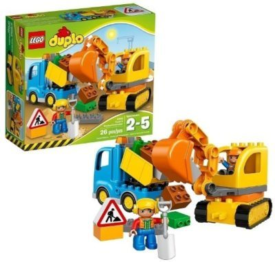 This is an image of baby lego duplo town truck building kit