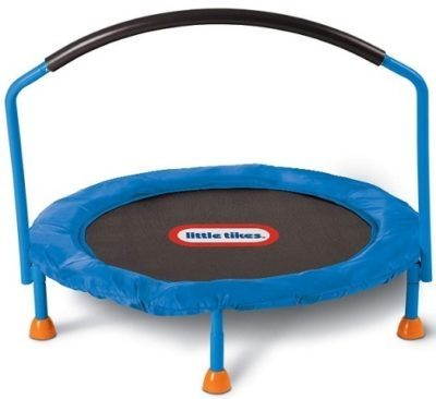 This is an image of kids little tikes trampoline in blue colors