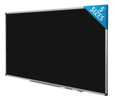 This is an image of a black chalkboard for kids.