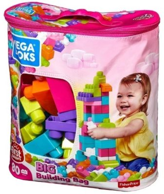 This is an image of baby mega blocks building bag