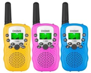 This is an image of kids walkie talkies pack with 3 different colors by Ohime