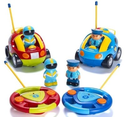 This is an image of toddler remote control car has pack of two cars