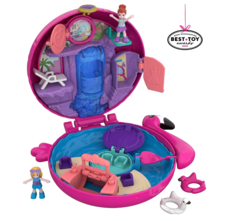 This is an image of a pink flamingo pocket world for kids.