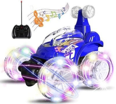 This is an image of toddler remote control car in blue color