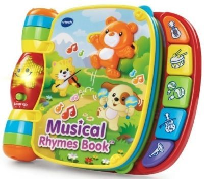 This is an image of baby rhymes book with beautiful songs