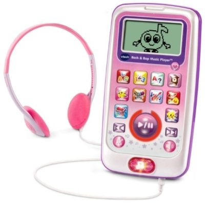 This is an image of girls rock and bop music player in pink color