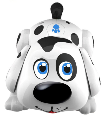 This is an image of a dalmatian electronic dog toy for kids.
