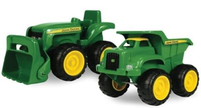 This is an image of baby sandbox vehicles in green color
