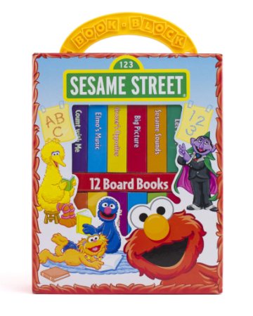 This is an image of a book and block in Sesame Street Edition.
