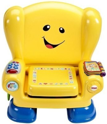 This is an image of baby yellow smart chair